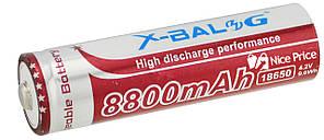 Акумулятор X-Balog Li-ion 4.2 V 18650 8800 mah (Purple) (2430)