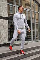 Серый мужской спортивный костюм весна-осень