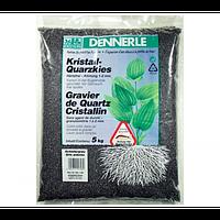 Аквариумный грунт Dennerle Kristall-Quarz, гравий фракции 1-2 мм, черный, 5 кг