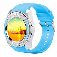 Смарт-часы UWatch V8 Blue часофон