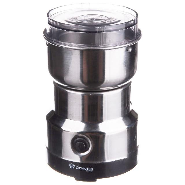 Кофемолка Domotec MS-1206 металлическая Silver (3030)