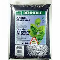 Аквариумный грунт Dennerle Kristall-Quarz, гравий фракции 1-2 мм, черный, 10 кг