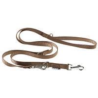 Регулируемый нейлоновый поводок Ferplast Club GA15/200 Brown для дрессировки собак, коричневый, 15 мм, 200 см
