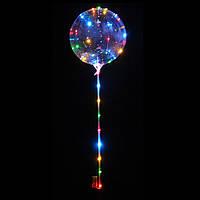 Шарики воздушные с подсветкой Bobo Balloons (большие) 3 режима работы 68 см (круглые), фото 1