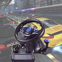 Руль и педали Vibration Steering Wheesel