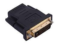 DVI-D (24+1) Male to HDMI Female переходник для вывода видео из устройств с разъёмом DVI (2057), фото 1