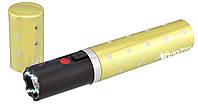 Многофункциональный фонарик ОСА 1202 в виде губной помады Золотой, фото 1