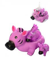 Набор резиновых игрушек для купания с пищалкой, 6286 (Зебра)