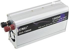 Инвертор, преобразователь напряжения с 12 на 220 вольт UKC SAA-1500W Silver (1882)