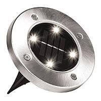Уличный светильник на солнечной батарее Solar Disk Lights 4 led (5050)