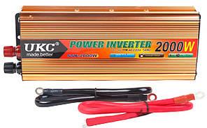 Перетворювач напруги(інвертор) 24-220V 2000W Gold (2711)