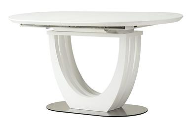 Стол раскладной  TML-765-1 (120-160) см МДФ+стекло Белый TM Vetro Mebel