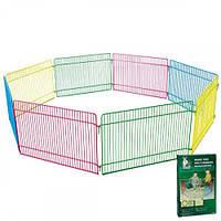 Вольер Flamingo Play Run для грызунов, 8 цветных панелей, металл, 23х35 см