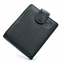 Мужской кожаный кошелёк H.T.Leather Чёрного цвета 163-ND16A