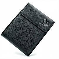 Мужской кожаный кошелёк H.T.Leather Чёрного цвета 1-208B
