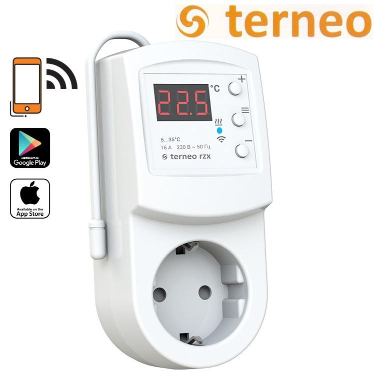 Терморегулятор программируемый Terneo RZX с  wi-fi (розеточный), Украина