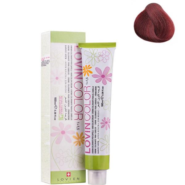 Стойкая крем-краска для волос Lovien Essential Lovin Color №6.60 Сливовый с красным оттенком 100 мл