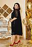 Шикарное сверкающее нарядное вечернее платье с вышивкой на сетке спереди и рукавах, батал большие размеры, фото 3