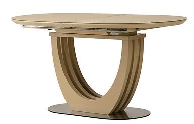 Стол раскладной TML-765-1 (120-160) см МДФ+стекло Капучино TM Vetro Mebel