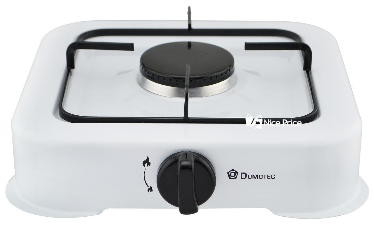 Настольный газовый таганок (плита) Domotec MS 6601 на 1 конфорку White (4062)
