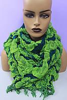 Шарф женский длинный объемный зеленый