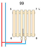 Вертикальный трубчатый радиатор BQ Quantum H-1800 мм, L-485 мм, фото 3