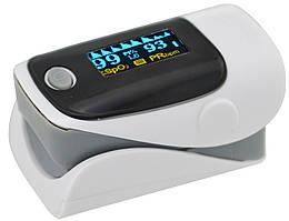 Пульсометр оксиметр на палец (пульсоксиметр) AB-80 Grey