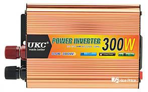 Перетворювач напруги(інвертор) 24-220V 300W + USB (7062)