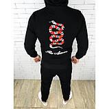 Спортивный костюм GUCCI D2752 черный с капюшоном, фото 2
