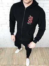 Спортивный костюм GUCCI D2752 черный с капюшоном