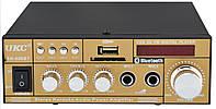 (УЦЕНКА) Усилитель звука UKC SN-606BT с радио и Bluetooth Gold (4826) (144814)