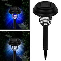 Садовий світильник для знищення комах на сонячній батареї з вимикачем (круглий), фото 1