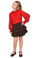 """Блузка детская для девочек  М-220  рост 134 и 152  из шифона тм """"Попелюшка"""", фото 1"""