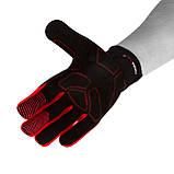 Велорукавички PowerPlay 6607 L Чорно-червоні (PP_6607_L_Red/Black), фото 5
