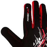 Велорукавички PowerPlay 6607 L Чорно-червоні (PP_6607_L_Red/Black), фото 7