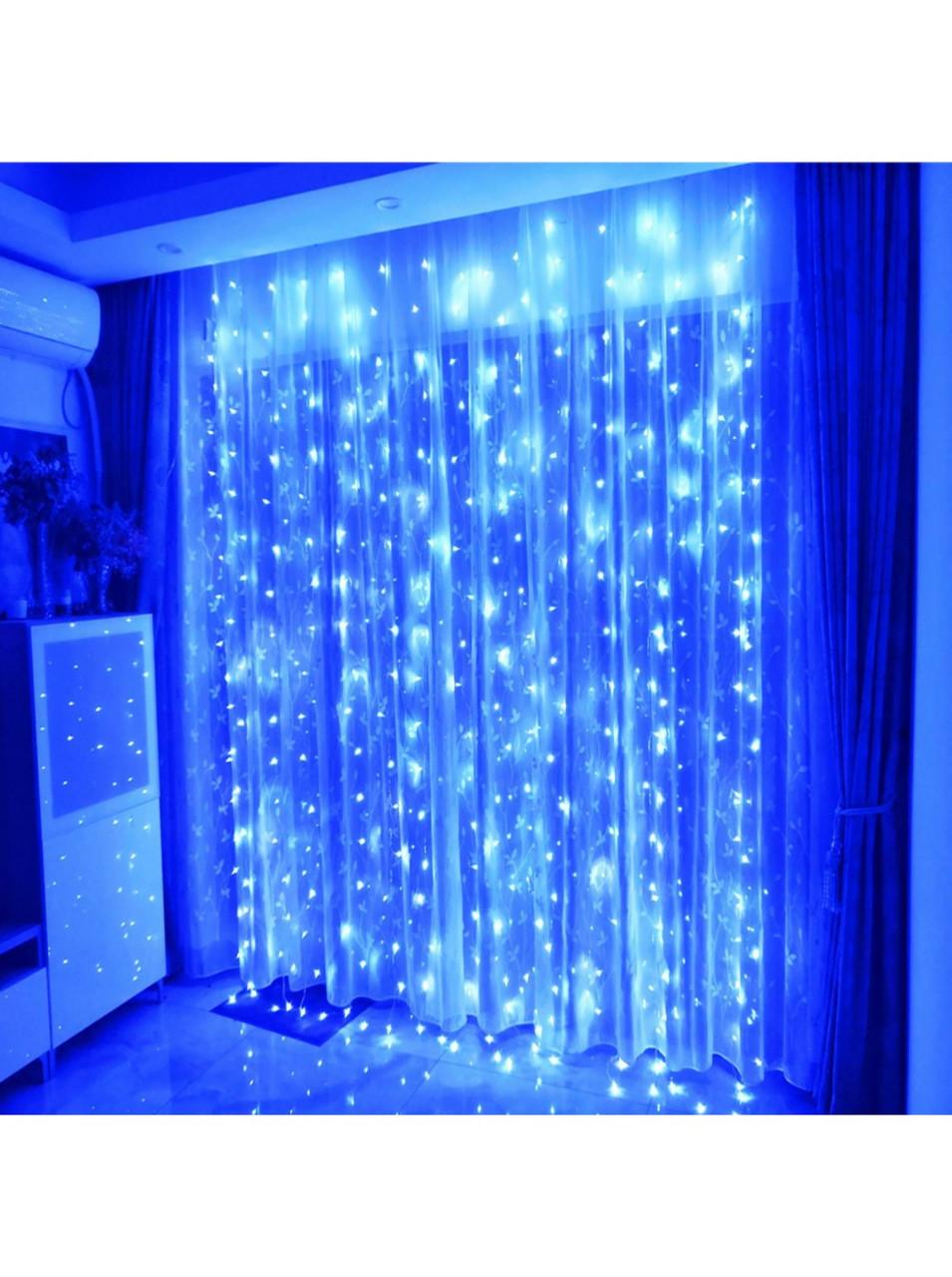Светодиодная гирлянда Водопад  LED 3*3 м, воспроизводит эффект падающей воды