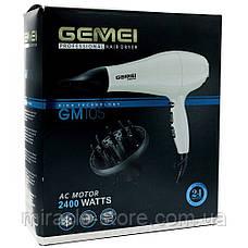 Фен для волос профессиональный 2400 Вт Gemei GM-105, фото 3