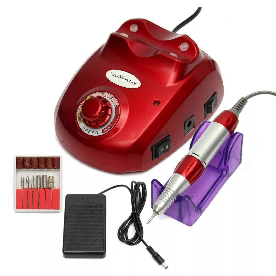 Професійний фрезер Beauty Nail Master DM-502 для манікюру і педикюру Червоний (719401220А)