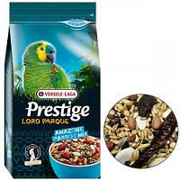 Корм Versele-Laga Prestige Loro Parque Amazone Parrot Mix зернова суміш для великих і середніх папуг, 1 кг