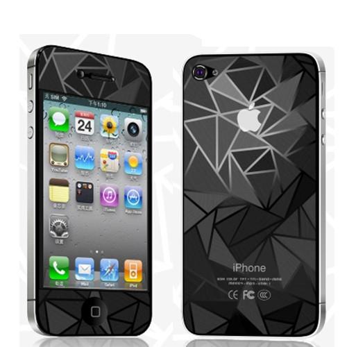 Защитная пленка 3D Diamond для iPhone 4G/4S (передняя и задняя)