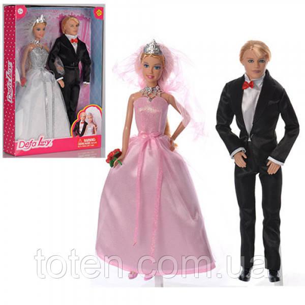 Набор кукол 29 см Семья  DEFA 8305 Жених и Невеста
