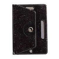 """Универсальный поворотный чехол для планшета 10 дюймов (10"""") Glitter черный"""