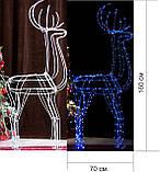 Новогодний 3D Led Олень в Наличии Высота 160см, фото 2