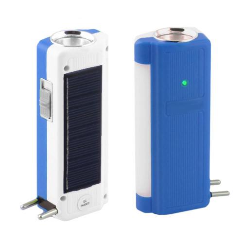 Фонарь аккумуляторный Yajia 1031 T, 1W+9SMD, солнечная батарея