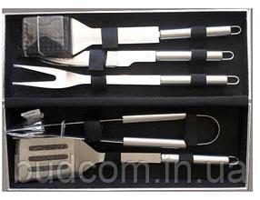 Набор инструментов для барбекю из нержавеющей стали в чемодане (5 пр./наб.) Dynasty DYN12083