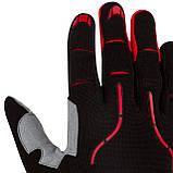 Велорукавички PowerPlay 6662 В M Чорно-червоні (PP_6662_M_Red), фото 7