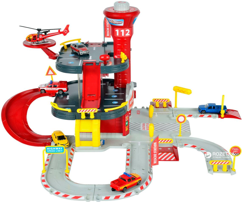 Уценка  Majorette Спасательная станция с вертолетом и машинкой (2050015)