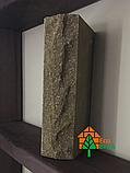 Кирпич облицовочный ECOBRICK скала ложок-тычок 230x100x65 мм коричневый, оливковый, фото 4
