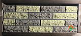 Кирпич облицовочный ECOBRICK скала ложок-тычок 230x100x65 мм коричневый, оливковый, фото 6