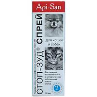 Спрей Api-San/Apicenna Стоп-зуд для лечения заболеваний кожи и отитов, для собак и кошек, 30 мл